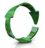 3d recycleren pictogram — Stockfoto