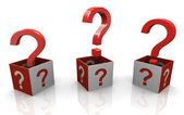 3d soru işaretleri — Stok fotoğraf