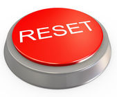 3d reset button — 图库照片