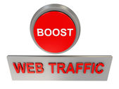 Web traffic boost — 图库照片
