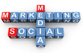 Sociale media marketing — Stockfoto