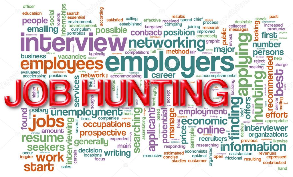 Illustration of wordcloud related to job hunting  Stock Photo #9541044