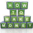 How to make money — Foto Stock