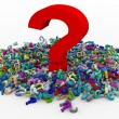 3d heap of question marks — Stock Photo #9550511