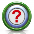 3d icon - question mark — 图库照片