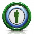 3d icon - male symbol — Foto de Stock