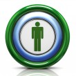 3d icon - male symbol — Stockfoto