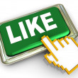 3d like button — Stock Photo