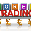 Stock Photo: 3d forex trading