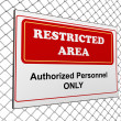 Restricted area notice — Foto Stock