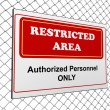 Restricted area notice — Stockfoto