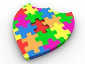 3d-puzzel schild — Stockfoto