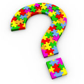 3d puzzle question mark — Stock Photo
