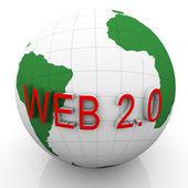 3d 地球和 web 2.0 — 图库照片