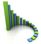 Grafico 3d di affari — Foto Stock