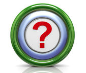 3d icon - question mark — Photo