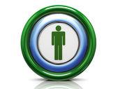 Icono 3d - símbolo masculino — Foto de Stock