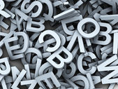 3d heap of alphabets — Stock Photo