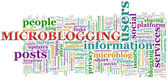 Microblogging wordcloud — Stock Photo