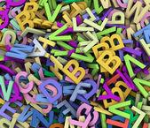 3d högen av alfabet — Stockfoto