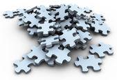 Piezas de puzzle 3d — Foto de Stock