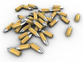 3d bullets — Stock Photo