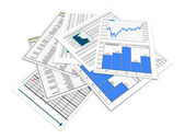 3d financial documents — Foto Stock