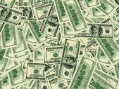 Notas de dólar 3d — Foto Stock
