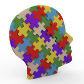3d puzzle head — Stock Photo