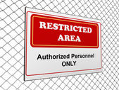 Restricted area notice — Stock Photo