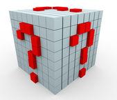 3d cubi punto interrogativo — Foto Stock