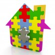 3d puzzle house — Stock Photo