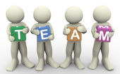 3d holding word team — Stock Photo