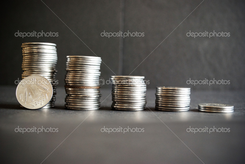 Indian currency coins  Stock Photo #10129498