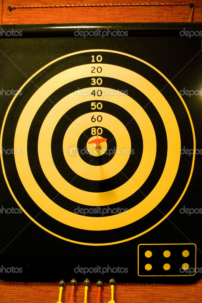 Dart board background  Stock Photo #10211774