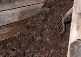 Compost pile — Stock Photo