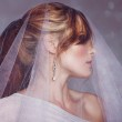 Modern bride with veil — Stock Photo #10434460