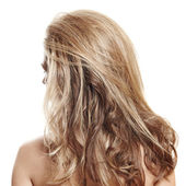 Long blond hair — Stock Photo