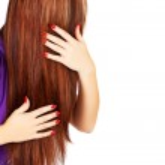 Long brown hair — Stock Photo