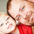 Royalty-Free Stock Photo: Father and toddler son