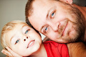 Father and toddler son — Stock Photo