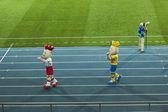Euro 2012 mascots — Stock Photo