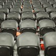The empty black seats in the stadium — Stock Photo