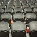 The empty black seats in the stadium — Stock Photo #9635689