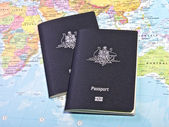 Australian Passports — Stock Photo