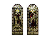 Religious Stain Glass Windows — Stock Photo