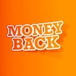 geld terug sticker — Stockvector