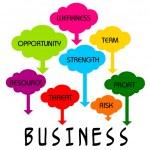Business CLoud — Stock Vector