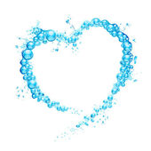 Water Splash Heart — Stock Vector
