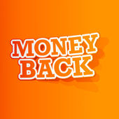 Money Back Sticker — Stock Vector